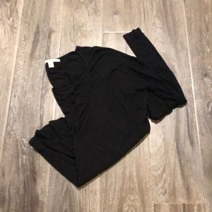 Francesca's black long sleeve tee